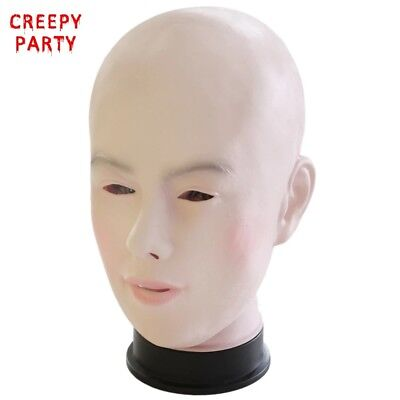 Realistic Adults Human Female Mask For Halloween Masquerade Latex Party Mask
