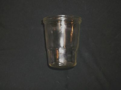 Glass Jar  Fits Antique  Arcade Coffee Grinder Crystal Wall  Mount