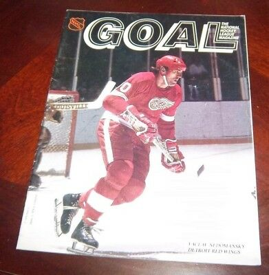 Goal Magazine  1979 Vaclav Nedomansky Detroit Red Wings 1979-80 NHL Schedules