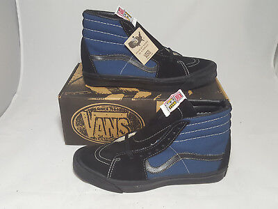 3b757d6e5c Vintage Vans shoes SK8 HI NAVY BLACK made in USA Men s Size 10 NOS Old Skool