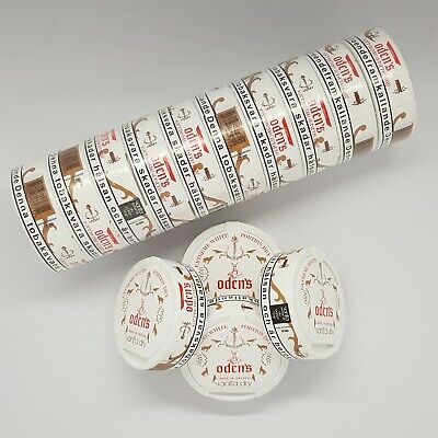 Halbe Stange (5 Dosen) Odens Vanilla Dry Extreme White Dry Chewing Bags / Snus