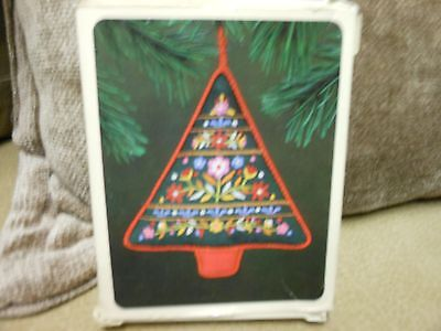 "Hallmark Keepsake ""Embroidered Tree"" 1982 Fabric Ornament NEW"