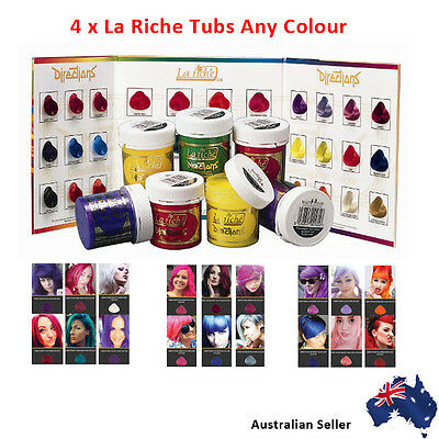 La Riche Directions Semi Permanent Hair Color Dye - 4 x Choose Any Colours AUS