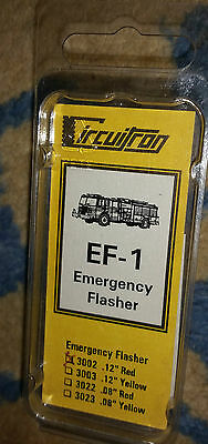 "CIRCUITRON Emergency  Flasher EF-1 3002 .12"" Red NIP"