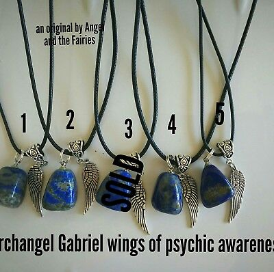 Code 856 Sodalite Wing of Psychic Awareness infused Choice Of 1 Necklace Only