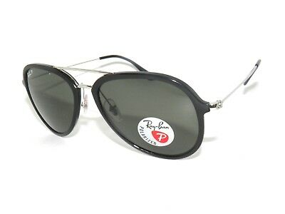f091226e4dc RAY BAN SUNGLASSES 4298 BLACK GREEN POLARIZED 601 9A RAYBAN ...