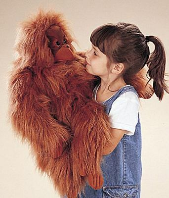 Folkmanis Orangutan Hand Puppet With Movable Mouth (New !!!)