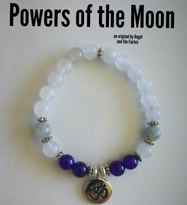 Code 408 Moonstone Jade Amethyst Infused Bracelet Powers of the Moon Om Reiki
