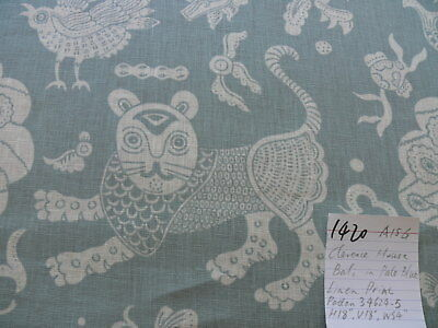 Clarence House Mythical Animals Bali Aqua Blue Robbin's Egg Linen Print Msrp$160