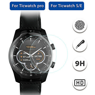 2PCS Premium 9H Tempered Glass Screen Protector For Ticwatch S/E/Pro Smart Watch