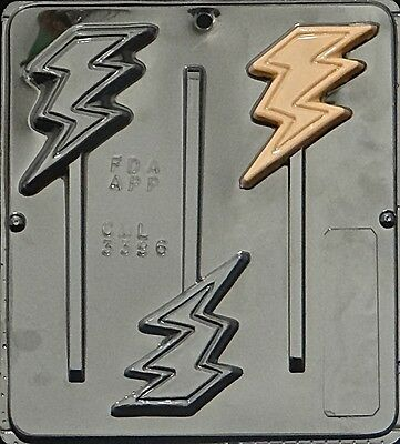 Lightning Bolt Lollipop Chocolate Candy Mold 3396 NEW