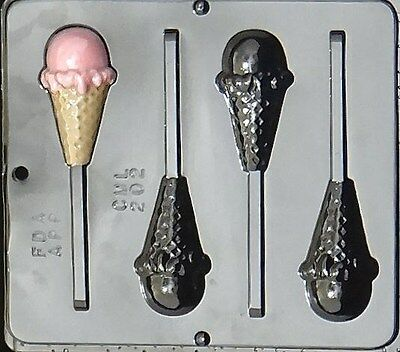 Ice Cream Cone Lollipop Chocolate Candy Mold 202 NEW