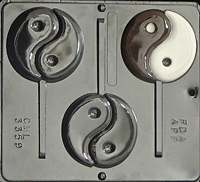 Ying & Yang Lollipop Chocolate Candy Mold 3359 NEW
