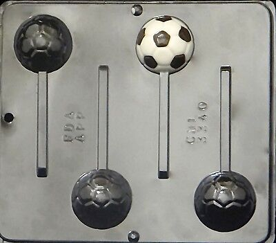 Soccer Ball Lollipop Chocolate Candy Mold 3340 NEW