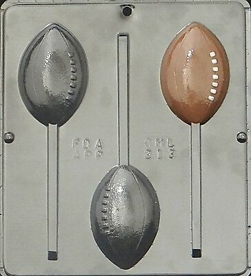 Football Lollipop Chocolate Candy Mold 213 NEW