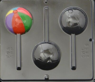 Beach Ball Lollipop Chocolate Candy Mold 3449 NEW