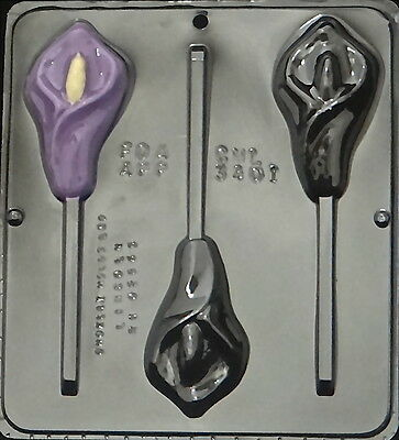 Calla Lily Lollipop Chocolate Candy Mold 3401 NEW