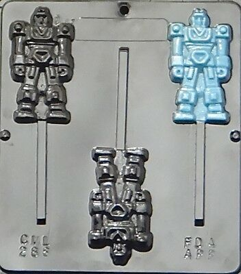 Robot Lollipop Chocolate Candy Mold 288 NEW