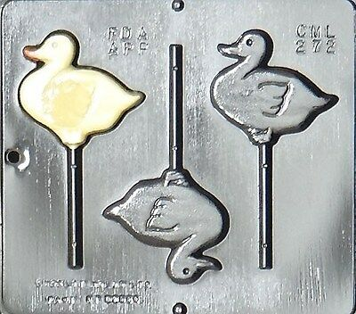 Duck Lollipop Chocolate Candy Mold 272 NEW