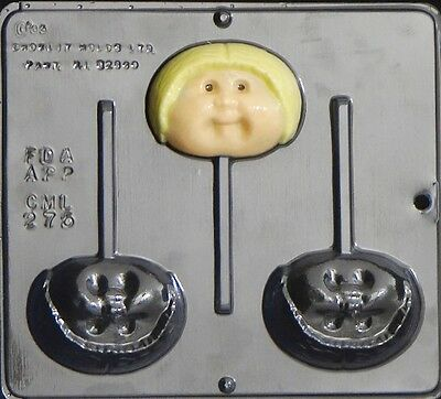 Cabbage Baby Boy Lollipop Chocolate Candy Mold baby Shower 275 NEW