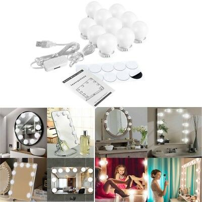 Vanity LED Mirror Light Kit For Makeup Hollywood Mirror With 10PCS Dimmable Bulb
