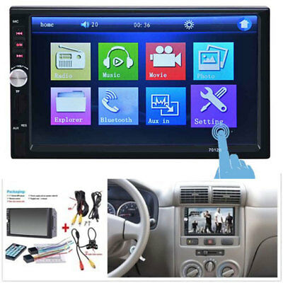 "2DIN 7"" HD Car Stereo Radio MP5 Player Bluetooth Touch Screen &  Rear Camera"