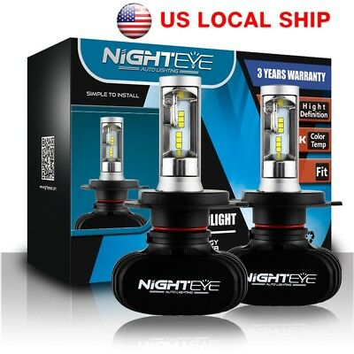 NIGHTEYE H4 HB2 9003 50W LED Headlight Kit Lights Lamps Bulb Hi/Lo Beam 8000LM