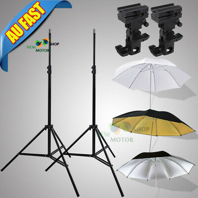"Photography Kit Light Stand Speedlite Umbrella Lighting /Bracket B /33"" Umbrella"