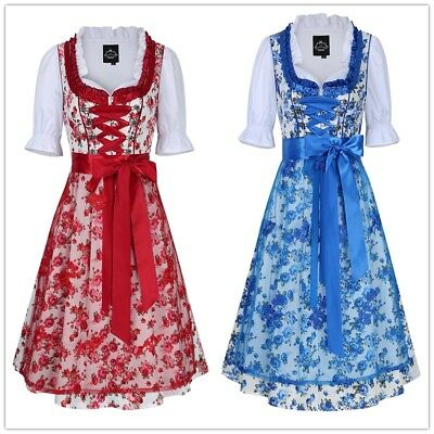 Beer Festival Traditional German Girl Oktoberfest Dirndl Dress Servants Costume