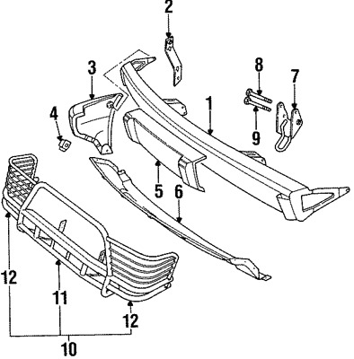 Land Rover Discovery Bumper | Land Rover OEM Part Number ANR2029