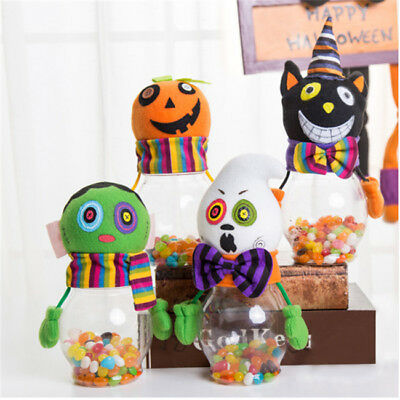 Halloween Candy Jar Cookie Cans Pumpkin Zombie Ghost Candy Box Party Decor B