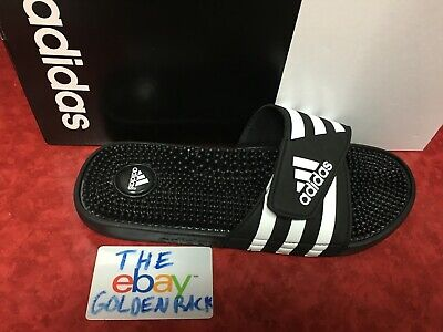 60913dcff02f ADIDAS ADISSAGE MEN BLACK WHITE Sandal Slippers 078260 Fast Free Shipping  NEW