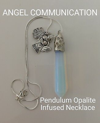 Code 654 Opalite Pendulum Infused Necklace Doreen Virtue Certified Practitioner