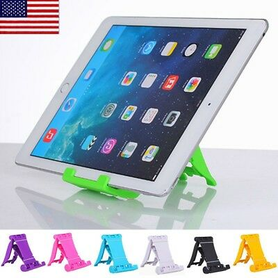 US New iPad Tablet iPhone Desk Stand Mobile Phone Folding Portable Holder Mount