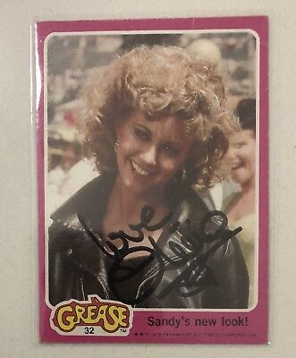 Olivia Newton John signed 1978 Grease Trading Card Autographed Autograph Crease