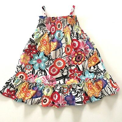 Hanna Andersson Toddler Girls Sundress Retro Floral Print Size 100 4 Multi Color