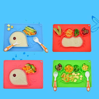 Children's meals bowl for kids feeding tray plates children silicone dishes JDUK