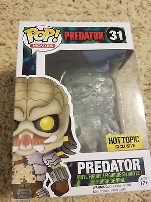 Funko POP! Movies Predator Hot Topic Exclusive Clear, Bloody # 31 (minor damage)