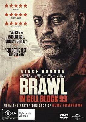 Brawl In Cell Block 99 Dvd, New & Sealed, 2018 Release, Region 4, Free Post