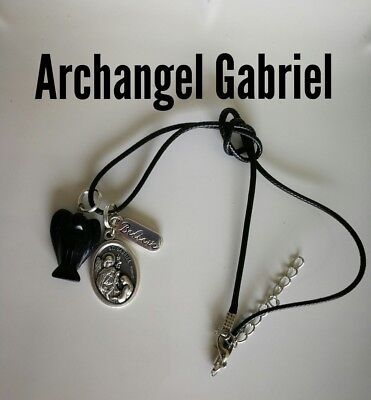 Code 888 Archangel Gabriel birthing pregnancy Blue sunstone Infused necklace IVF