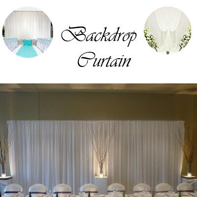 White Backdrop Curtain Ice Silk Velcro Without Swag Wedding Party Event Birthday