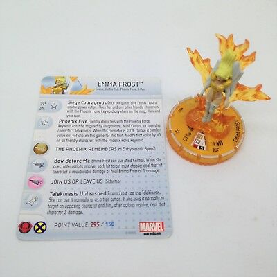 Heroclix Wolverine and the X-Men set Emma Frost (Phoenix) #060 Chase w/card!