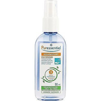 PURESSENTIEL Assainissant Lotion Spray Antibactérien 80ml Mains et Surfaces