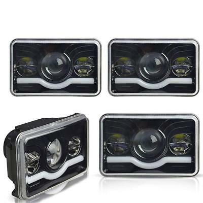 "4x6"" LED Headlights DRL for Kenworth T400 T600 T800 W900L W900B Classic 120/132"