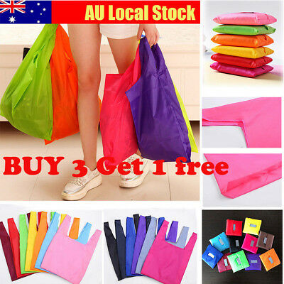 Foldable Canvas Shopping Bags Reusable Eco Grocery Storage Tote Shoulder Bag