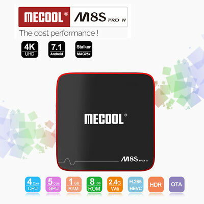 Mecool M8S pro con Android 7.1 1.5GHz Quad Core Tv-Box 2.4G Wi-Fi 100Mbps 1G +