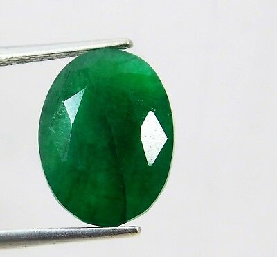 Natural 6.10 Ct Certified Oval Cut Colombian Loose Emerald Gemstone. 11085 qw