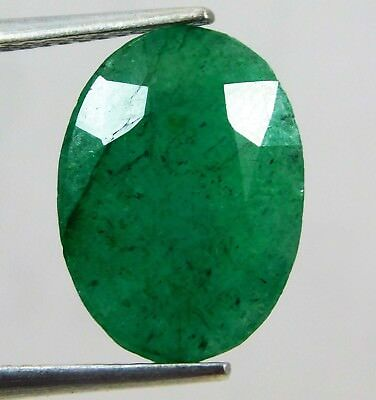 Natural 5.75 Ct Certified Oval Cut Colombian Loose Emerald Gemstone. 11032 qw