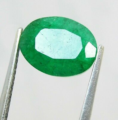 Natural 3.90 Ct Oval Cut Colombian Loose Emerald Gemstone. 11018 R