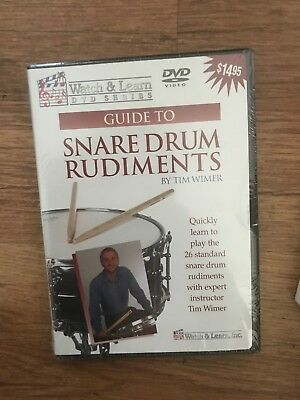 Guide to Snare Drum Rudiments Tim Wimer Watch and Learn DVD Series NEU